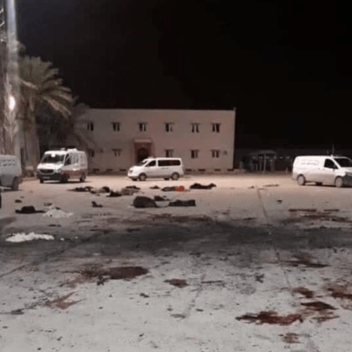 Video – The missile attack on Libya's military academy which killed 30 cadets