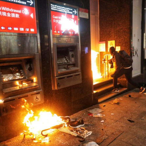 HSBC kicks off year with Hong Kong branches closed, vandalized