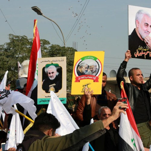Thousands gather in Baghdad to mourn Soleimani