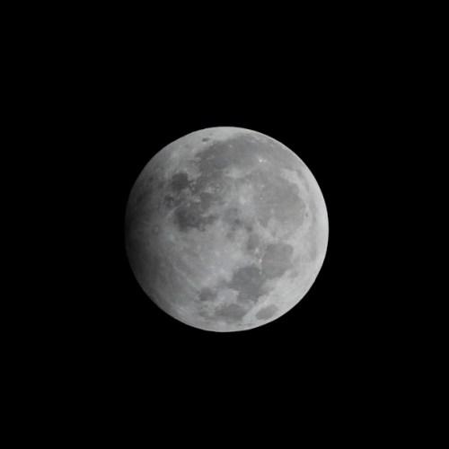 Penumbral lunar eclipse in Myanmar