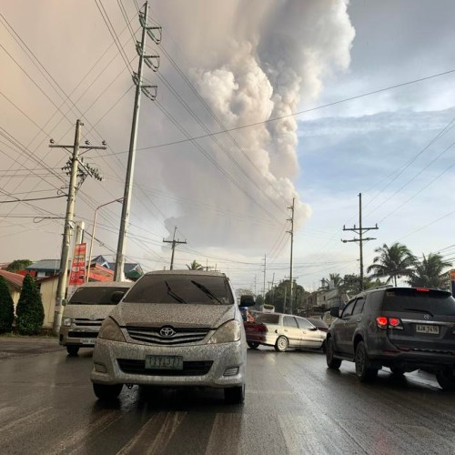 Photo Story: Evacuations underway as Taal Volcano spews giant ash column in the Philippines