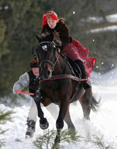 Polish Highlander Carnival horse races