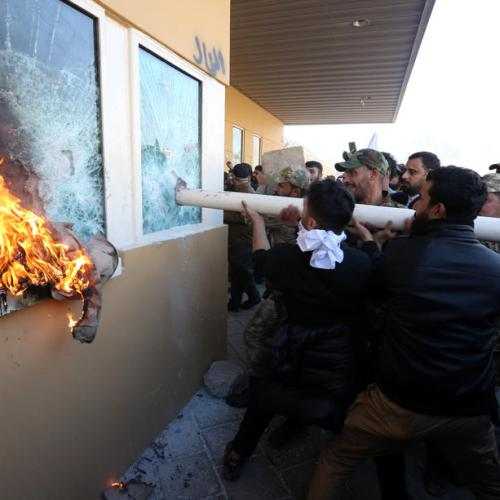 Trump issues threat to Iran after attack on US embassy in Iraq