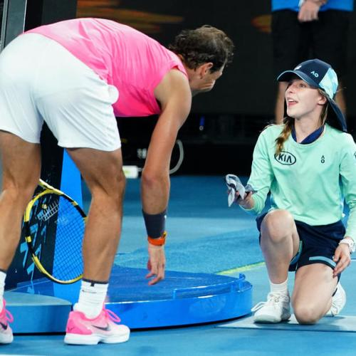 Rafael Nadal shows caring side