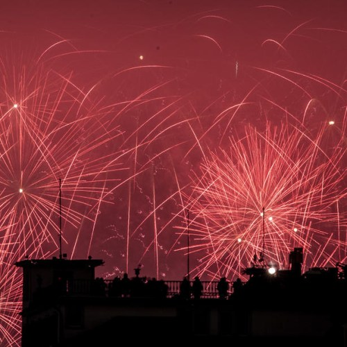 Swiss welcomed the New Year with environmentally-friendly fireworks