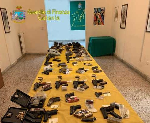 Huge arms cache seized in Catania