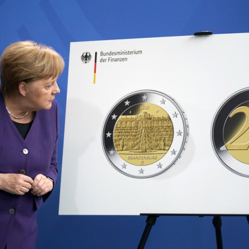 Photo Story: Merkel attends presentation of special euro coin in Berlin
