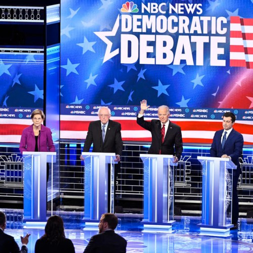 Fiery Democratic debate in Nevada with Bloomberg the main target