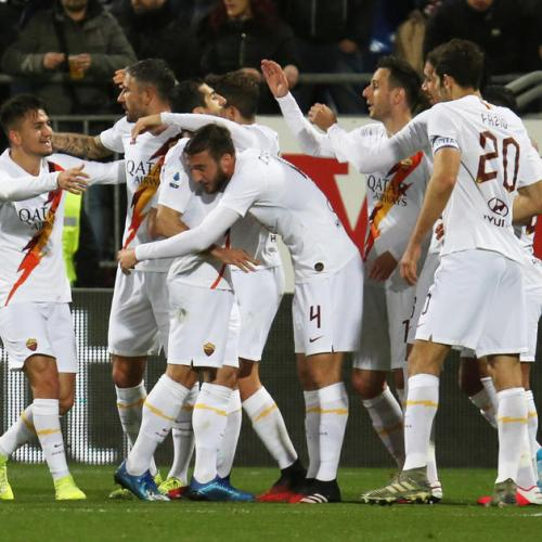 Kalinic double helps Roma beat Cagliari 4- 3