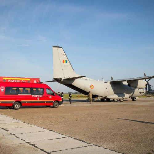 Photo Story: Romanian transports EU aid to Italy