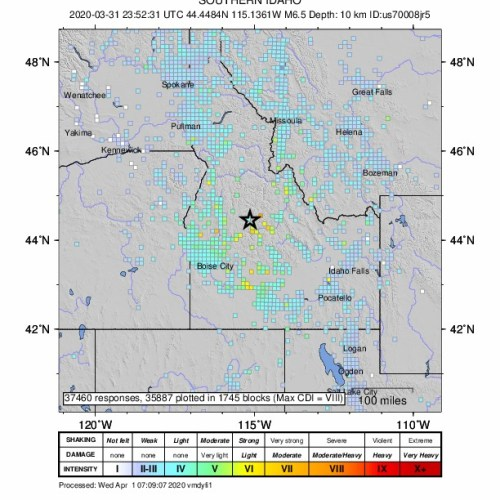 6.5 earthquake hits Idaho, USA