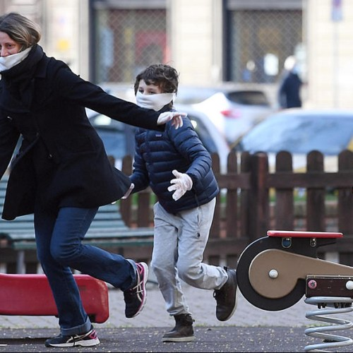 Row erupts in Italy over taking children outside during lockdown