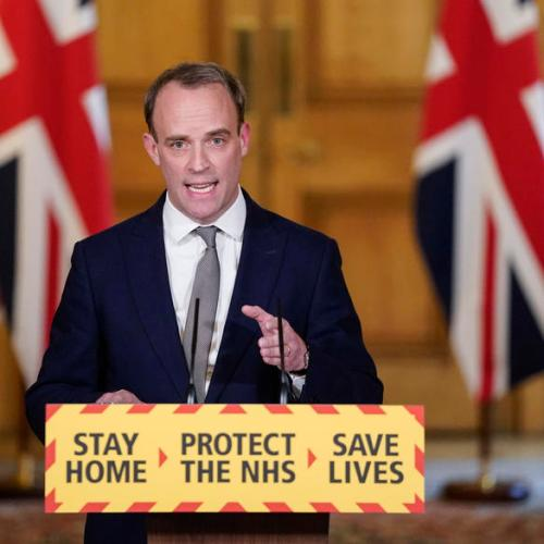 Britain should not have free-trade negotiations with countries abusing human rights well below the level of genocide – Raab