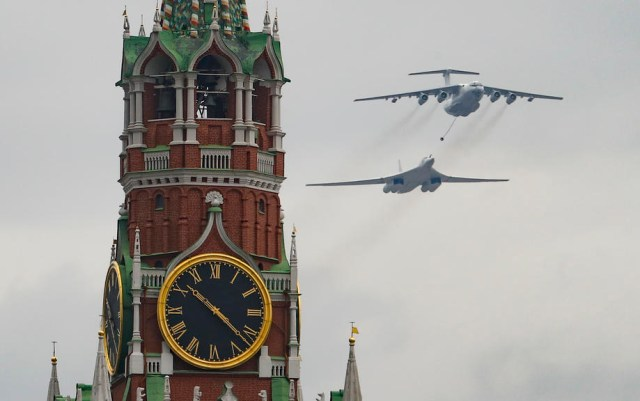 General rehearsal of the Victory Day parade in Moscow