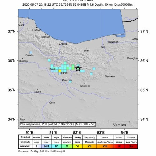5.1 earthquake shakes Iran