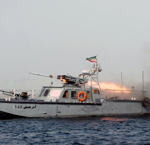 Iranian navy ship sunk by friendly fire causing multiple deaths