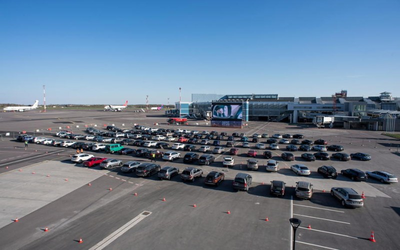 Photo Story: Drive-in cinema at Vilnius airport