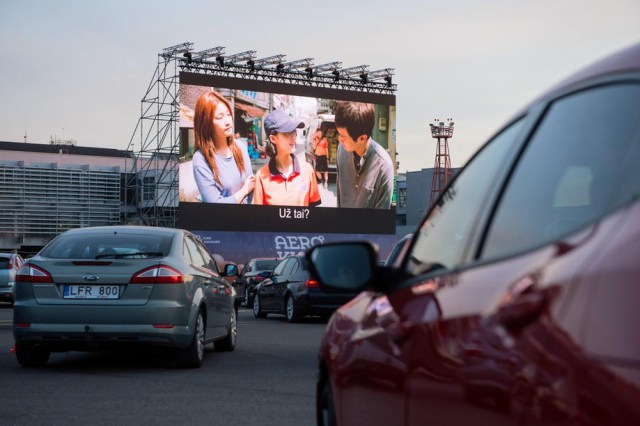 Drive-in cinema at Vilnius airport
