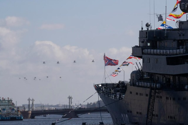 Victory Day celebration in St. Petersburg