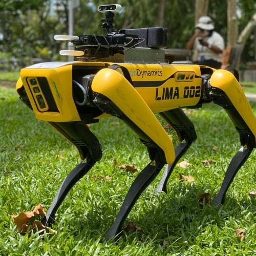 Photo Story: Four-legged robot in Singapore to assist with Covid-19 social distancing measures