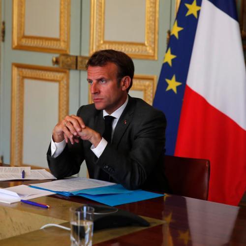 Macron's ruling party suffers split