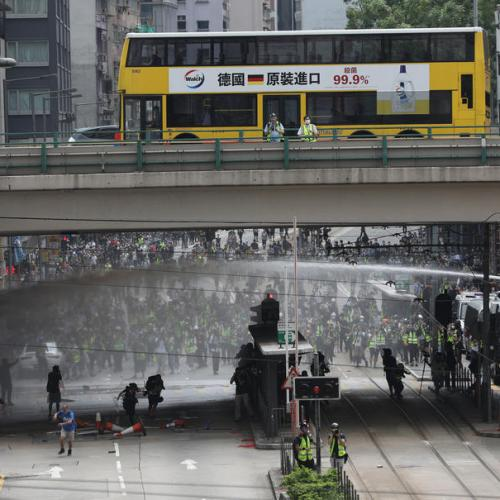 Police fire tear gas to disperse protestors in Hong Kong