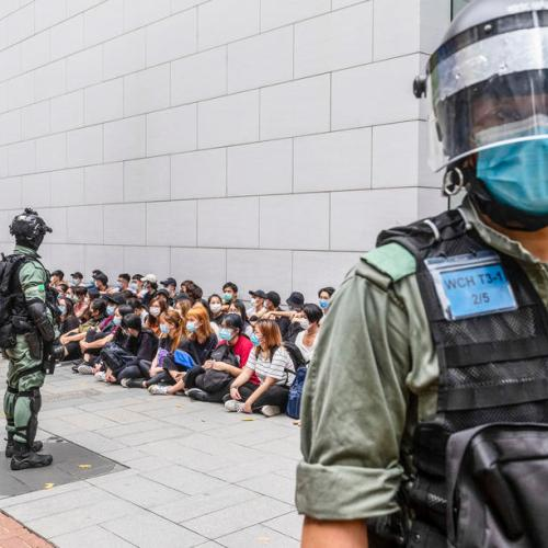 Riot police deployed across Hong Kong as U.S.-China tensions rise