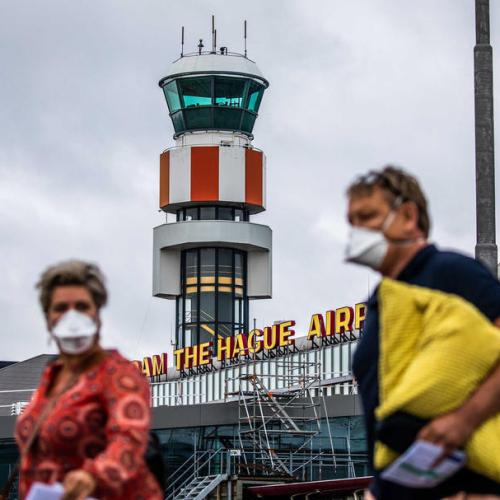 Photo Story: The return of commercial flights in The Hague airport