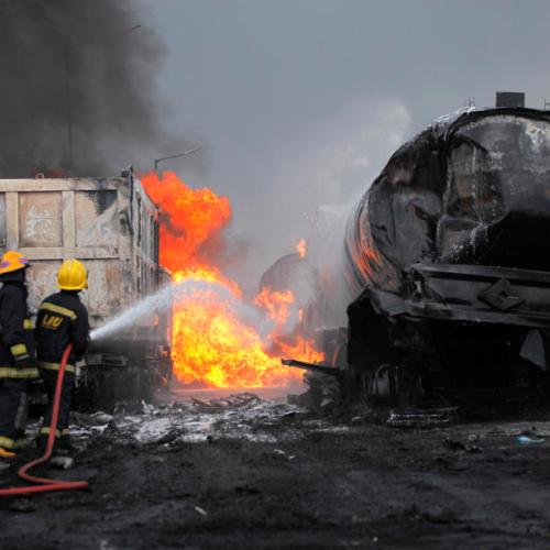 Photo Story: Fuel tanker accident in Lagos