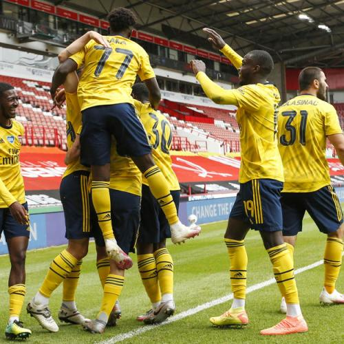 Arsenal goes into the Semi final at stoppage- time