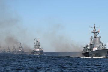 Russian navy practices striking Black Sea targets as Ukraine, U.S. hold drills
