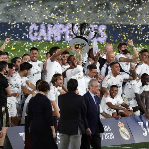 Real Madrid win 34th Liga title