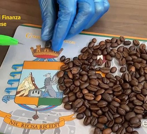Italian police intercept cocaine trafficked hidden in coffee beans