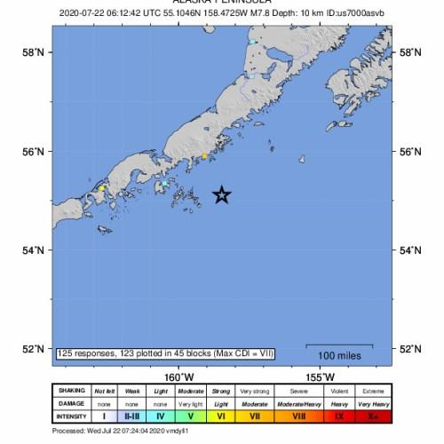 Tsunami warning issued after 7.8-magnitude earthquake hits Alaska