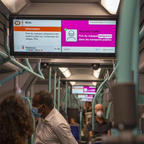 Masks declared obligatory on Swiss public transport