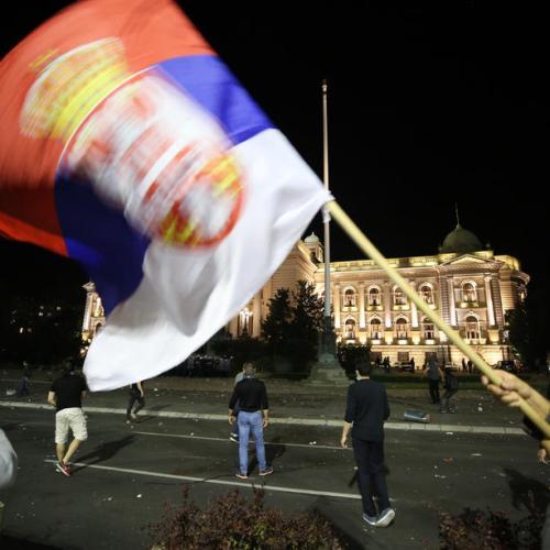 Protestors storm Serbian parliament against Coronavirus lockdown