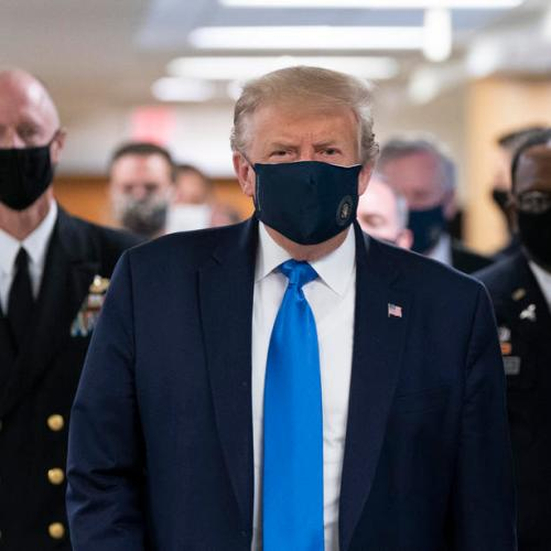 Trump sends email to supporters asking them to wear mask