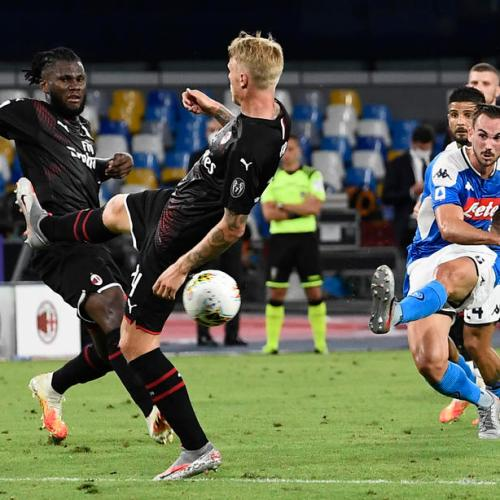 Napoli and Milan draw in entertaining match
