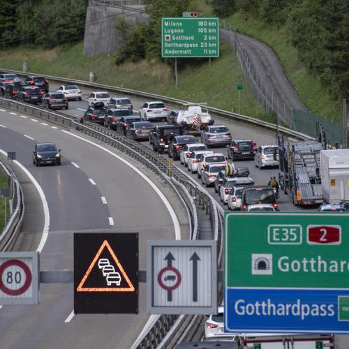 Photo Story: Traffic jams as holidays begin in Switzerland