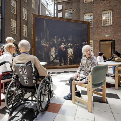 Photo Story: Rijksmuseum brings life-size Night Watch to care homes in the Netherlands