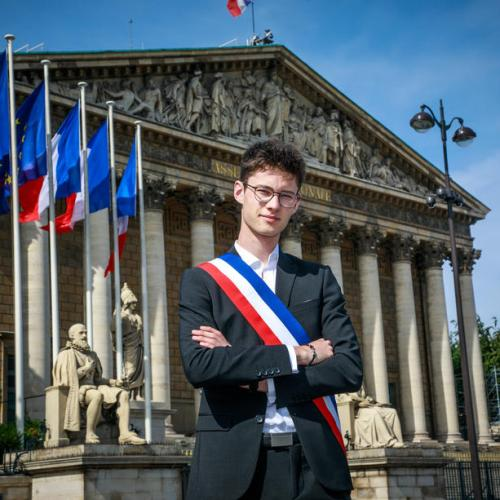 Photo Story: France youngest Mayor poses in Paris