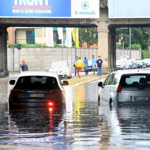 Milan hit by torrential rain and flash floods