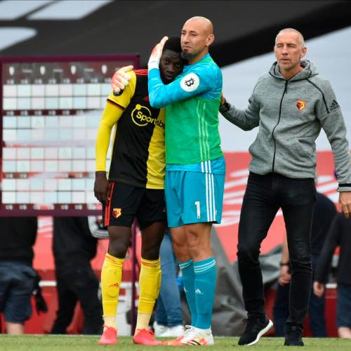 Watford relegated after 3-2 defeat at Arsenal