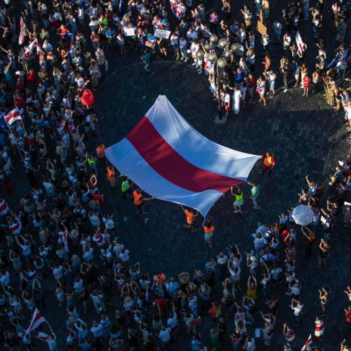 Hundreds gather in Prague, Warsaw to support Belarus protesters