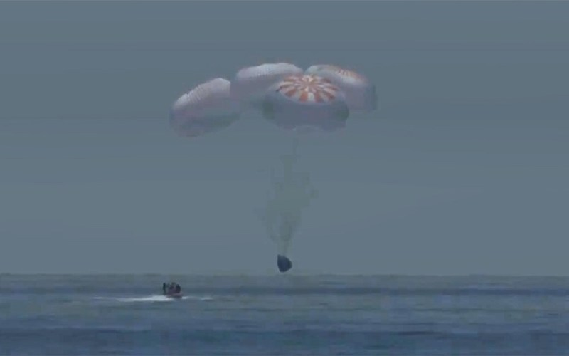 SpaceX Crew Astronauts 'splash down' safely