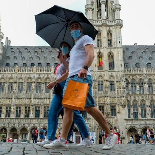 Brussels makes face masks compulsory in all public spaces as COVID-19 cases spike