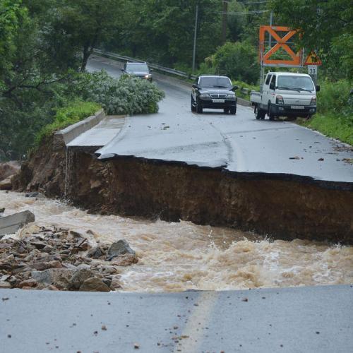 Photo Story: Heavy rain hits South Korea