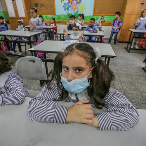 Photo Story: Gaza children back to school after five months of closure over COVID-19 pandemic