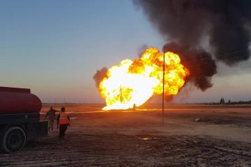 Fire from explosion on gas pipeline in Syria extinguished
