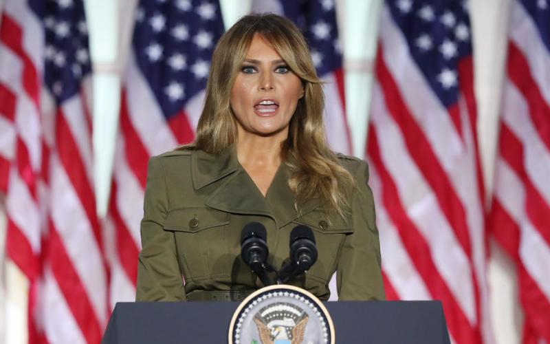 Melania Trump offers sympathy on coronavirus, racial suffering in convention speech